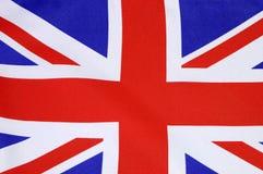 Tło zamknięty Brytyjski Union Jack flaga up obrazy stock