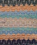 Tło - zbliżenie stary gałganiany dywanik fotografia royalty free