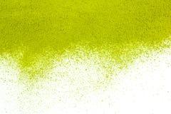 Tło zieleń proszka powierzchnia fotografia stock