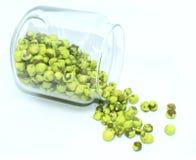 tło zieleń target34_0_ biel grochów mój portfolio zdjęcia stock