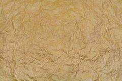 Tło zmięty brown papier Obrazy Stock