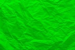Tło zmięty zielony papier Fotografia Royalty Free