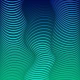 Tło zniekształcać linie Cienie błękit ilustracja wektor