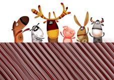 tło zwierzęcy set Fotografia Stock