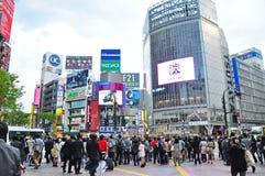 Tłoczy się ludzie przy Shibuya Obrazy Stock
