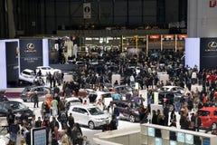 tłoczy się motorowego Geneva przedstawienie Obraz Stock