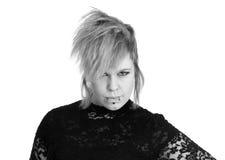 Tłuściuchna alternatywna młoda kobieta Zdjęcia Stock