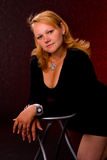 tłuściuchny dziewczyna portret Fotografia Royalty Free