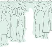Tłum Abstrakcjonistyczni ludzie ilustracji