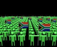 Tłum abstrakcjonistyczni ludzie z wiele południe - afrykanin zaznacza ilustrację Zdjęcie Stock