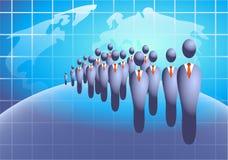 tłum biznes ilustracja wektor