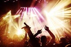 tłum koncertowe sylwetki Fotografia Stock