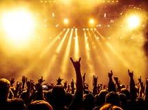 tłum koncertowe sylwetki Obrazy Royalty Free