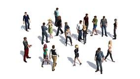 Tłum ludzie na białym tle Obraz Royalty Free