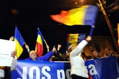 Tłum ludzie podczas ulica protesta Zdjęcia Stock