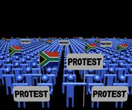 Tłum ludzie z protestów południe i znakami - afrykanin zaznacza ilustrację Fotografia Stock