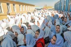 Tłum młode dziewczyny w Afganistan zdjęcia royalty free