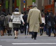 tłum miasta zdjęcie stock
