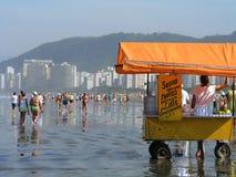 Tłum na plaży Obraz Royalty Free