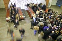 tłum pod ziemią Fotografia Royalty Free