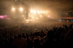 Tłum przed sceną zdjęcie stock