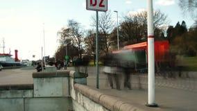 Tłum przy Kiel kanałem, Niemcy zbiory wideo
