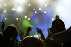 Tłum przy koncertem fotografia stock