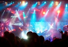 Tłum przy koncertem obraz stock