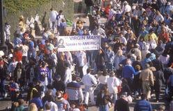 Tłum przy rose bowl paradą, Pasadena, Kalifornia Obrazy Stock