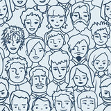 Tłum, różnorodnych persons bezszwowy wzór Obrazy Royalty Free