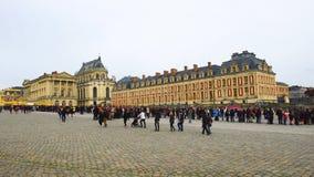 Tłum turyści przy pałac Versailles zbiory