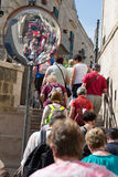 Tłum w Matera zdjęcie stock