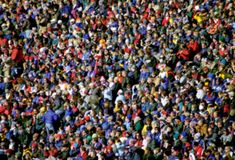 tłum zróżnicowany abstrakcyjne Fotografia Royalty Free