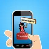 Tłumaczy app pojęcie Obrazy Royalty Free