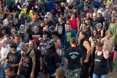 tłumu festiwal zdjęcia stock