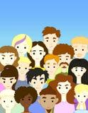 Tłumu zawody międzynarodowi charakterów różni ludzie Obrazy Royalty Free