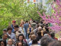 Tłumy Przy Highline parkiem obraz royalty free
