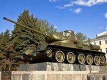 34 t坦克 纪念碑 库存图片