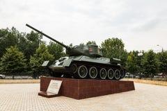 34 t坦克 荣耀胡同在格罗兹尼,车臣 免版税库存图片