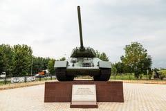 34 t坦克 荣耀胡同在格罗兹尼,车臣 库存照片