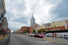 AT&T大厦和百老汇,纳稀威, TN,美国 免版税库存图片