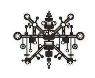T恤杉、贴纸或者墙壁艺术的创造性的机器人印刷品 库存照片