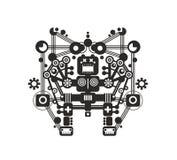 T恤杉、贴纸或者墙壁艺术的创造性的机器人印刷品 免版税库存照片