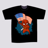 T恤杉印刷品设计超级英雄Ninja 库存图片