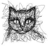 T恤杉图表 简单的图画划线员 库存例证