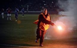 T流动额外同盟波兰人总理英格兰足球联赛维斯瓦克拉科夫- Ruch霍茹夫 免版税图库摄影