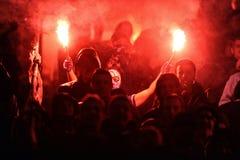 T流动额外同盟波兰人总理英格兰足球联赛维斯瓦克拉科夫- Ruch霍茹夫 库存图片