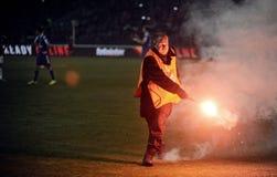 T流动额外同盟波兰人总理英格兰足球联赛维斯瓦克拉科夫- Ruch霍茹夫 图库摄影