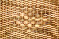 t被编织的篮子自然模式藤条 库存图片