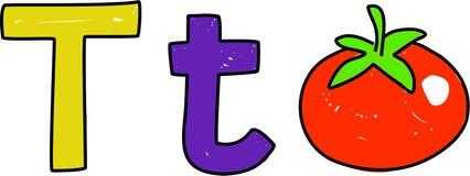 T é para o tomate ilustração do vetor
